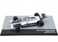 MAGAZINE MODELS 1:43 - BRABHAM BT49C 1981 PARMALAT RACING TEAM #5 NELSON PIQUET WORLD CHAMPION GERMANY GP F1, WH