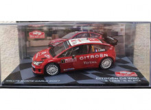 MAGAZINE MODELS 1:43 - CITROEN C4 WRC 2007 #1 S. LOEB/D. ELENA RALLY MONTE CARLO, RED/WHITE