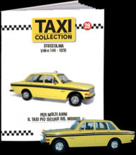 MAGAZINE MODELS 1:43 - VOLVO 144 - STOCKHOLM 1970, TAXI OF THE WORLD - CENTAURIA