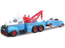 MAISTO 1:64 - MACK B-61 1953 WITH 1937 FORD, BLUE/WHITE/RED