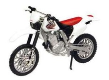 MOTORMAX 1:18 - HONDA XR400R, RED/WHITE