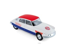 NOREV 1:64 - CITROEN DS DE 1958, CYCLISTE BLUE WHITE RED