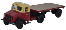 OXFORD 1:76 (00) - Bedford OX Flatbed Trailer British Rail