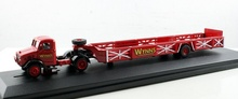 OXFORD 1:76 - BEDFORD BEDOX QUEEN MARY TRAILER WYNNS, RED