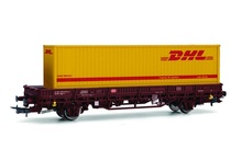 Rivarossi HO (1:87) - DB AG, 2-axle flat wagon Kbgs with 40' con tainer 'DHL', epoch V