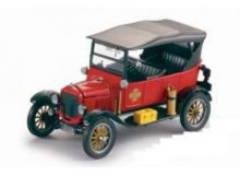 SUNSTAR 1:24 - FORD MODEL T 1925 TOURER FIRE CHIEF, RED