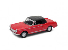 WELLY 1:34 - PEUGEOT 404 CABRIOLET WITH CLOSED SOFT TOP, RED/BLACK
