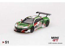 MINI GT 1:64 - HONDA NSX GT3 2018 #30 24H SPA LEFT HAND DRIVE, GREEN/WHITE