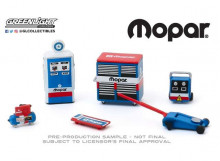 GREENLIGHT 1:64 - MOPAR PARTS & SERVICE *SHOP TOOL ACCESSORIES SERIES 2*, BLUE/RED