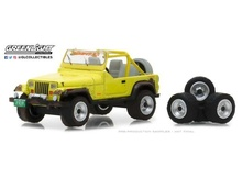 GREENLIGHT 1:64 - JEEP YJ 1991, MUD SPRAY AND SPARE TIRES 'THE HOBBY SHOP SERIES 3'