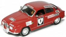 ATLAS 1:43 - SAAB 96V4 #8 BLOMQVIST/HERTZ INTERNATIONAL SWEDISH RALLY 1972, RED