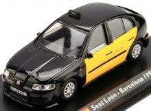 ATLAS 1:43 - SEAT LEON BARCELONA TAXI 1999, BLACK/YELLOW
