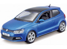 BBURAGO 1:24 - VOLKSWAGEN POLO GTI MARK 5 2014, BLUE