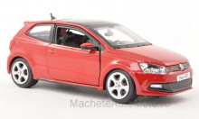 BBURAGO 1:24 - VW POLO V GTI M5, RED WITHOUT SHOWCASE