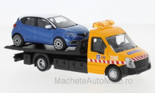 BBURAGO 1:43 - IVECO DAILY TRANSPORT WITH RENAULT CAPTUR