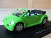 DETAIL CARS 1:43 - VOLKSWAGEN BEETLE CONCEPT 1 CABRIO 1994, GREEN