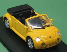 DETAIL CARS 1:43 - VOLKSWAGEN BEETLE CONCEPT 1 CABRIO 1994, YELLOW