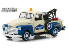 GREENLIGHT 1:43 - CHEVROLET 3100 PICK-UP TOW TRUCK 1953 *BFGOODRICH SERVICE* RUNNING ON EMPTY SERIES 1