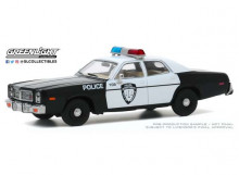 GREENLIGHT 1:43 - DODGE MONACO 1977 POLICE DEPARTMENT CITY OF ROSEVILLE