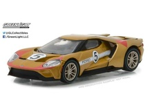 GREENLIGHT 1:64 - FORD GT 2017, 1966 #5 FORD GT40 MK II TRIBUTE 'FORD GT RACING HERITAGE SERIES 1' LIGHT COPPER/RED