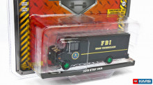 GREENLIGHT 1:64 - INTERNATIONAL STEP VAN 2019 FBI BOMB TECHNICIANS *H.D. TRUCK SERIES 19*, BROWN/YELLOW