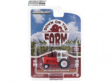 GREENLIGHT 1:64 - TRACTOR 1973 WITH CLOSED CAB *DOWN ON THE FARM SERIES 4*, WHITE/RED