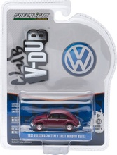 GREENLIGHT 1:64 - VOLKSWAGEN BEETLE SPLIT WINDOW 'CLUB VEE-DUB SERIES 2', BORDEAUX RED - 1951