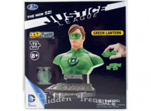 HAPPY WELL 1:32 - JUSTICE LEAGUE *GREEN LANTERN* 3D PUZZLE 72PCS, GREEN