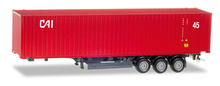 "HERPA 1:87 - 45 ft. container semitrailer ""CAI"""