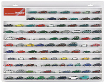 HERPA 1:87 - Car showcase white, (22.4 in. x 17.7 in. x 1.4 in.)