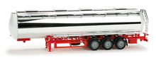 HERPA 1:87 - Chromium plated foodtank trailer, undecorated