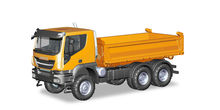 HERPA 1:87 - IVECO TRAKKER 6X6 3-WAY DISCHARGE SKIP, ORANGE