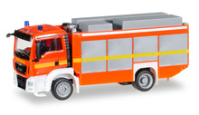 "HERPA 1:87 - MAN TGS M Euro 6 rescue vehicle, luminous red ""fire department"""