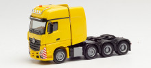 HERPA 1:87 - Mercedes-Benz Actros Gigaspace SLT 4-axle heavy duty rigid tractor, traffic yellow