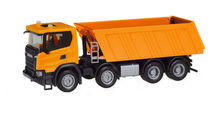 HERPA 1:87 - SCANIA CG 17 8×4 DUMP SEMITRAILER, COMMUNAL ORANGE