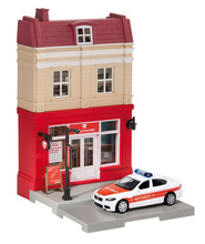 HERPA CITY 1:64 - EMERGENCY ROOM WITH RESCUE VEHICLE