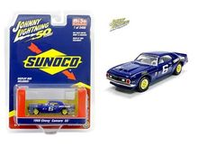 JOHNNY LIGHTNING 1:64 - CHEVY CAMARO SS 1968 #6 SUNOCO RACING, BLUE