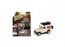 JOHNNY LIGHTNING 1:64 - TOYOTA LAND CRUISER 1980 OFF ROAD 4X4, SAND/WHITE