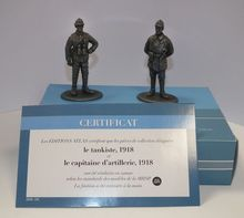 MAGAZINE MODELS 1:26 - TANK COMMANDER & ARTILLERY CAPTAIN 1918