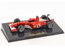 MAGAZINE MODELS 1:43 - FERRARI F2002 SCUDERIA FERRARI 2002 #1 MICHAEL SCHUMACHER WORLD CHAMPION F1, RED