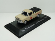 MAGAZINE MODELS 1:43 - FIAT 1500 MULTICARGA PICK-UP PNEUS (1965) ARGENTIA SERVICE VEHICLES