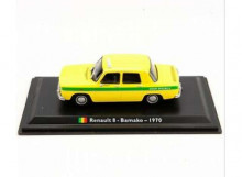 MAGAZINE MODELS 1:43 - RENAULT 8 1970 *BAMAKO TAXI*, YELLOW/GREEN