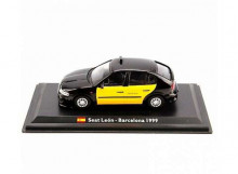 MAGAZINE MODELS 1:43 - SEAT LEON 1999 *BARCELONA TAXI*, BLACK/YELLOW