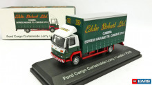 MAGAZINE MODELS 1:76 - FORD CARGO CURTAINSIDE LORRY STOBART, GREEN/RED/WHITE