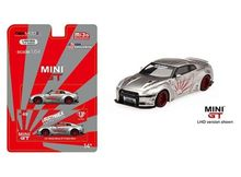 MINI GT 1:64 - NISSAN GT-R R35 TYPE 1 LB WORKS LEFT HAND DRIVE, SILVER