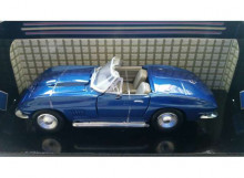 MOTORMAX 1:24 - CHEVROLET CORVETTE CONVERTIBLE 1967, BLUE
