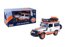 MOTORMAX 1:24 - TOYOTA FJ40 1974 HARD TOP OFF ROAD VERSION WITH ROOF RACK *GULF #8*