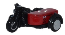 OXFORD 1:148 - MOTORBIKE AND SIDECAR - ROYAL MAIL