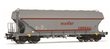 Rivarossi HO (1:87) - Set of 2 flat sided hopper wagons 'Ausilia re Milano'