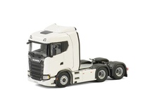 WSI 1:50 - Scania S Highline CR20H 6x2 Tag axle white